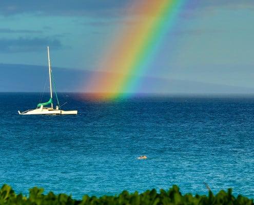 Rainbow on Kaanapali Beach