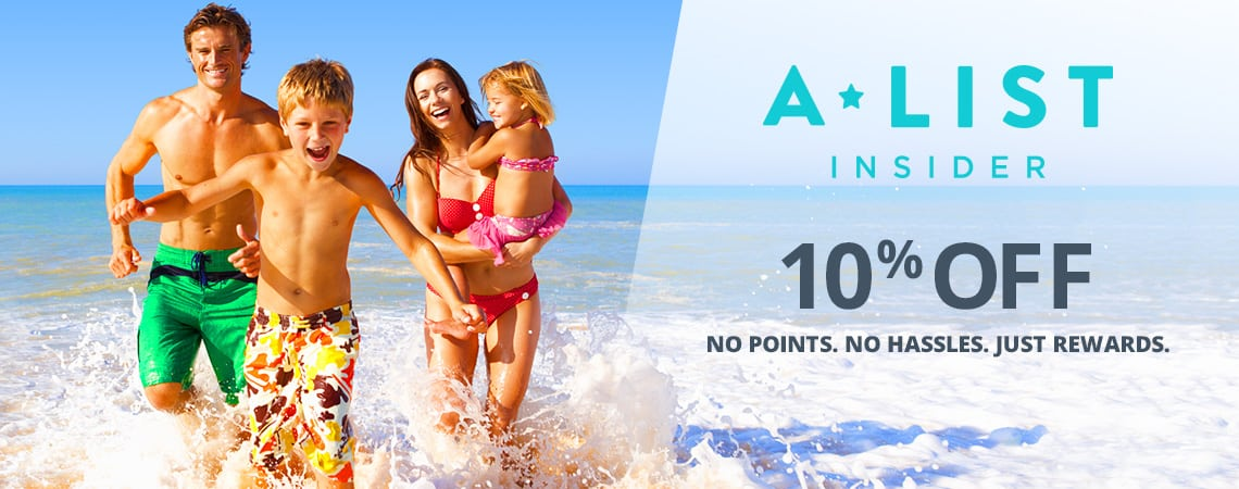 A-List Exclusive. Save 10% when you sign up today.