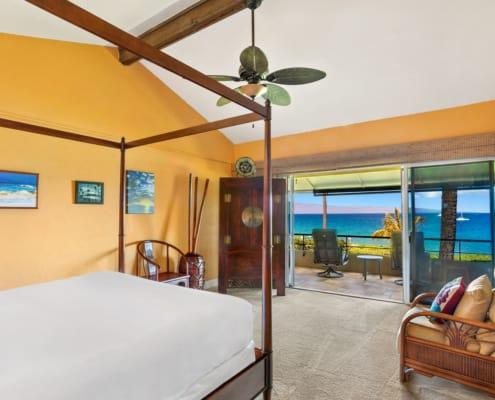 One Bedroom Oceanfront Premium Suite Bedroom