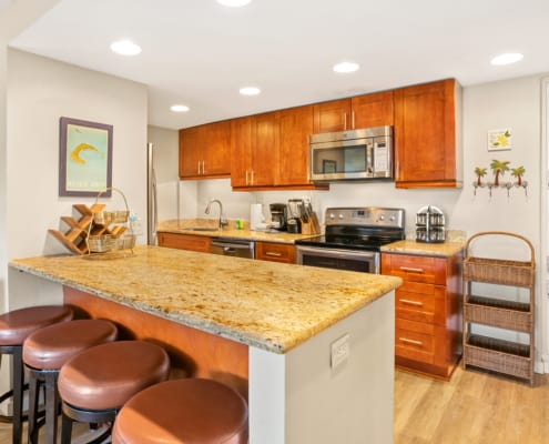 1-Bedroom Ocean View Kitchen