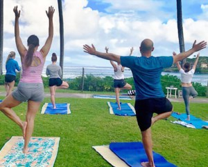 On site Yoga Class and Water Aerobics